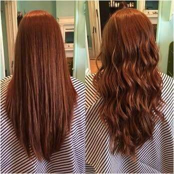 women beach wave perm hair