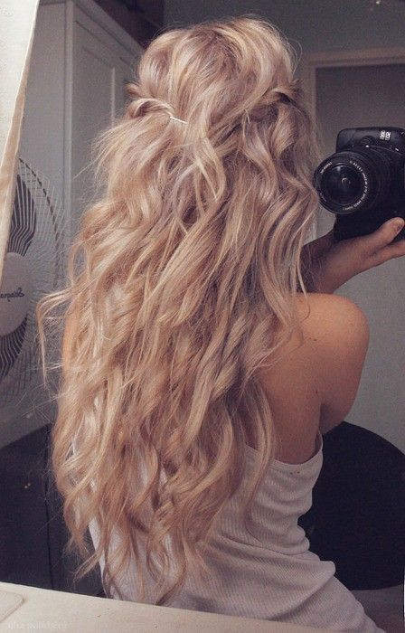 best side beach wave hairstyle foe women