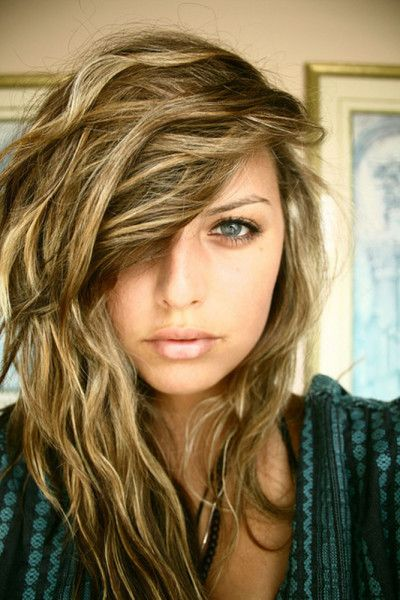 side beach waves hair perm for girl