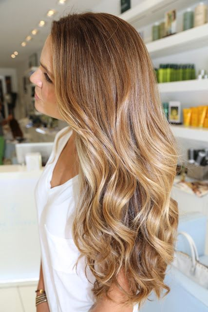 girl beach waves perm hairstyle
